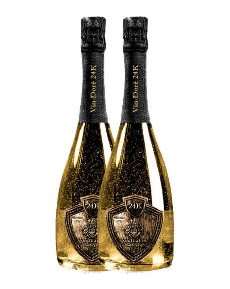 Pack de 2 Botellas de Vino Espumoso Vin Doré 24K Brut Imperial